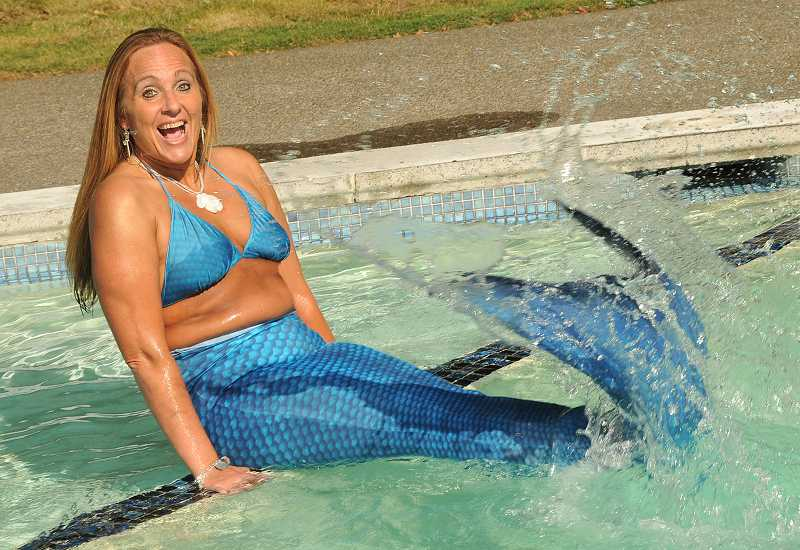 by: REVIEW, TIDINGS PHOTO: VERN UYETAKE - Splash! It is a joy for Collette Remsen to be a mermaid. She has loved mermaids ever since she was a little girl.