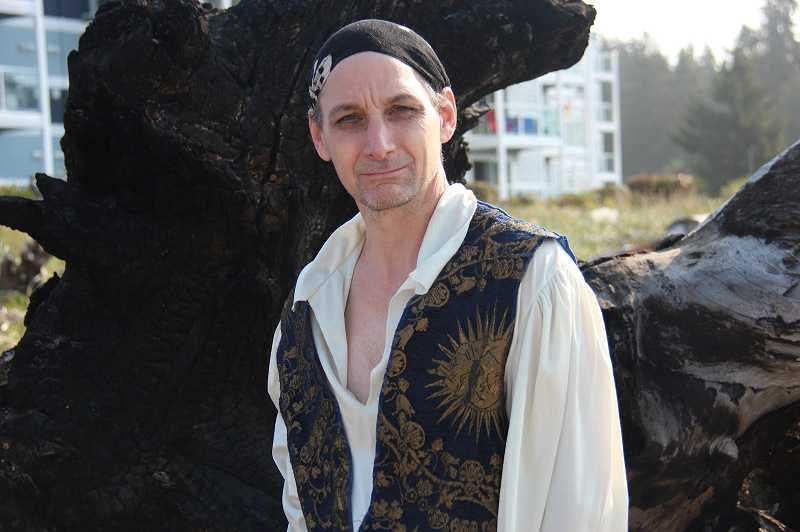 by: SUBMITTED PHOTO: JEREMY HARRIS - Donald Harvey, a pirate re-enactor, will be dressed as a pirate next spring when he and Collette Remsen, Lake Oswego's mermaid, get married.