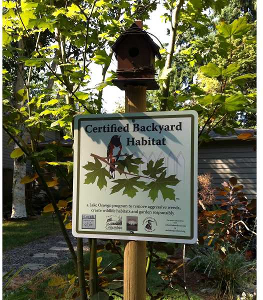 by: SUBMITTED PHOTO - Approximately 100 Lake Oswego residents participated in the Backyard Habitat certification program last year.