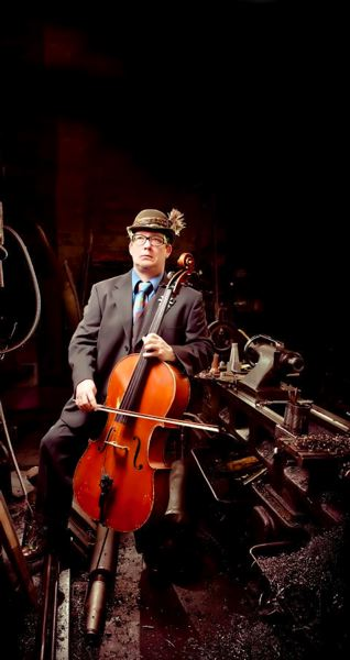 by: CONTRIBUTED PHOTO - Eccentric cellist Skip vonKuske performs every Monday at Edgefield Winery and will collaborate with Sneakin Out this Thursday at Mt. Hood Community College.