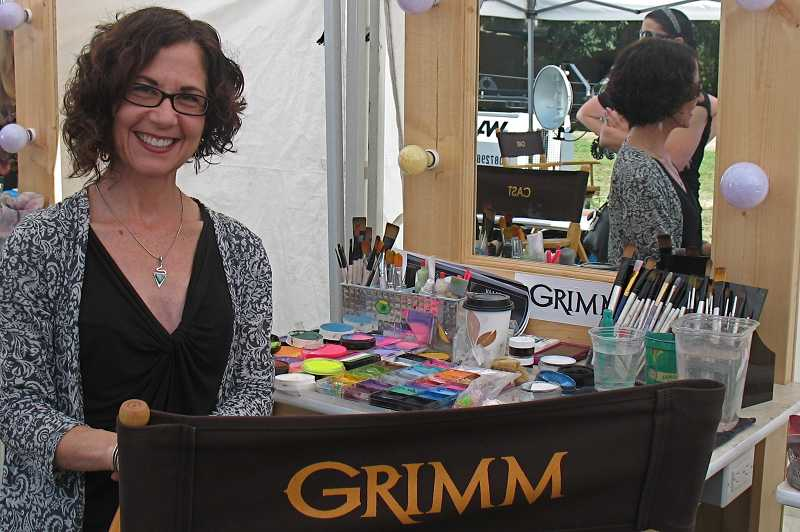 by: SUBMITTED PHOTO - West Linn artist Kim Millen was hired to paint trick or treaters for the Halloween episode of 'Grimm,' which will air Oct. 26 at 9 p.m. on KGW channel 8.