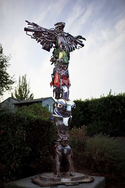 by: SUBMITTED PHOTO - Totem II  will be unveiled in its permanent location at the Jean Road fire station on Oct. 11 at 1:30 p.m.
