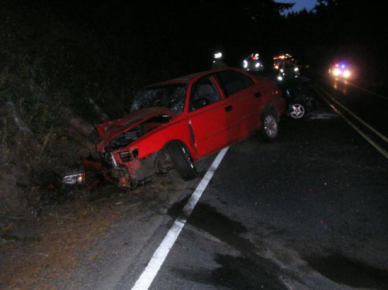 by: OSP - Oregon State Police are investigating what caused a Sept. 25 three-vehicle crash that injured four.