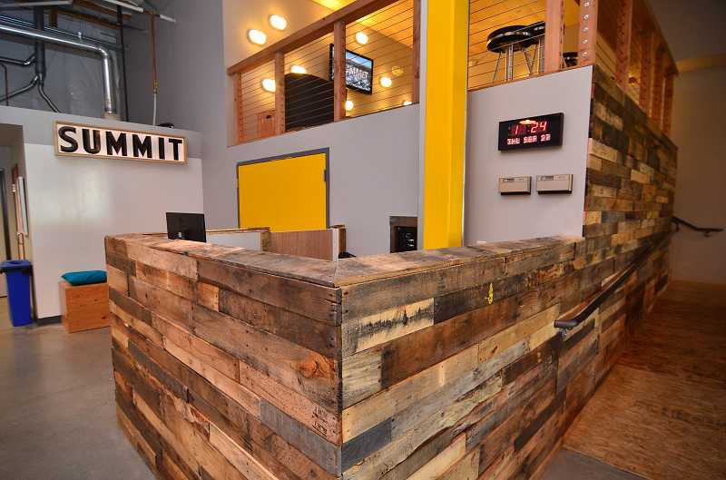 by: VERN UYETAKE - The church used old pallets to create an urban loft atmosphere at The Summit.