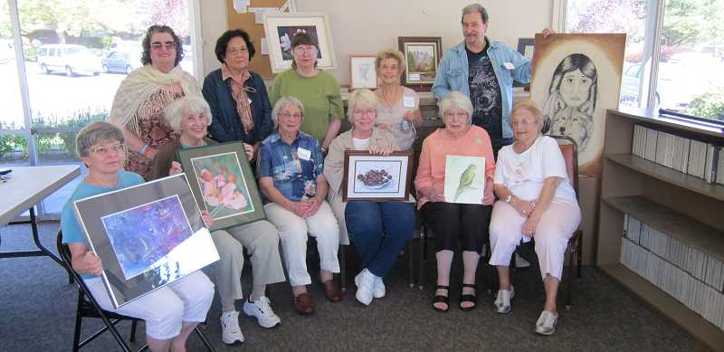 by: BARBARA SHERMAN - TAKING THEIR TALENT TO A NEW LEVEL - The above King City Artists Guild members are excited to be participating in an upcoming show at Concordia University: (front row, from left) Laurie Svec, Lee Woodward, Betty Jo Bauman, Lynn Wolfe, May Lou Milbauer and Loretta Pytosky; and (back row, from left) Diane Tyhurst, Chong Lee, Darlene Rising, Joyce Saari and Ron Baker.