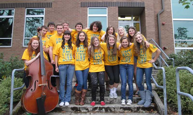 by: SUBMITTED PHOTO - The West Linn High School jazz choir will perform Oct. 6 at the Oregon Golf Club.