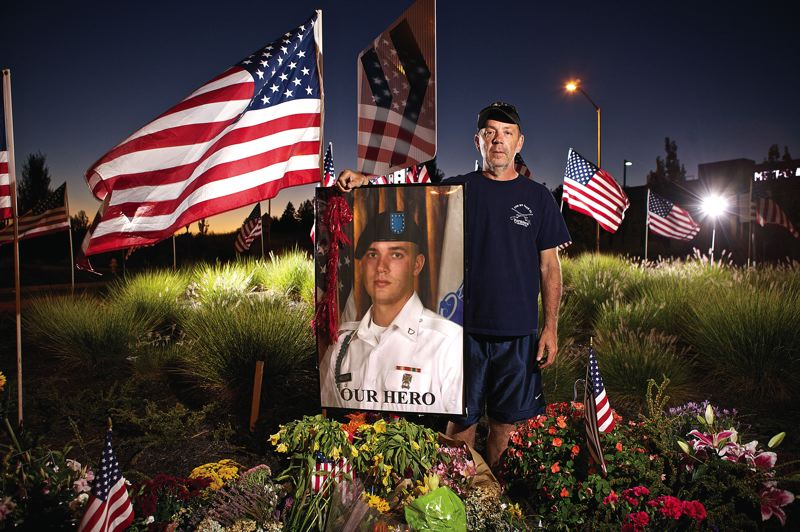 by: TIMES PHOTO: JAIME VALDEZ - Jeff Keller spoke with Beaverton city leaders, asking for their support in renaming the Southridge High School stadium after his eldest son, Pfc. Andrew Keller. The 22-year-old Tigard soldier was killed in action Aug. 15 while leading his unit in Afghanistan.