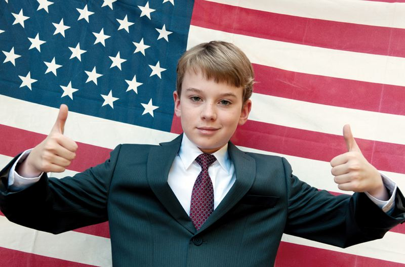 by: COURTESY PHOTO - COURTESY PHOTO David Van Dyke plays Judson Moon, a youngster that takes on the political status quo in the Hillsboro theater production of 'When Kids Run For President.'