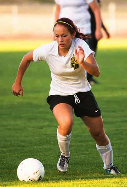 by: JEREMY DUECK - St. Helens' Ashley Giesbers led the Lady Lions in scoring last week. She had five goals against Roosevelt.