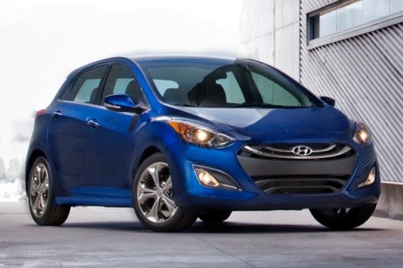 by: HYUNDAI MOTOR COMPANY - The hatchback is well integrated into the stylish lines of the new Hyundai Elantra GT.