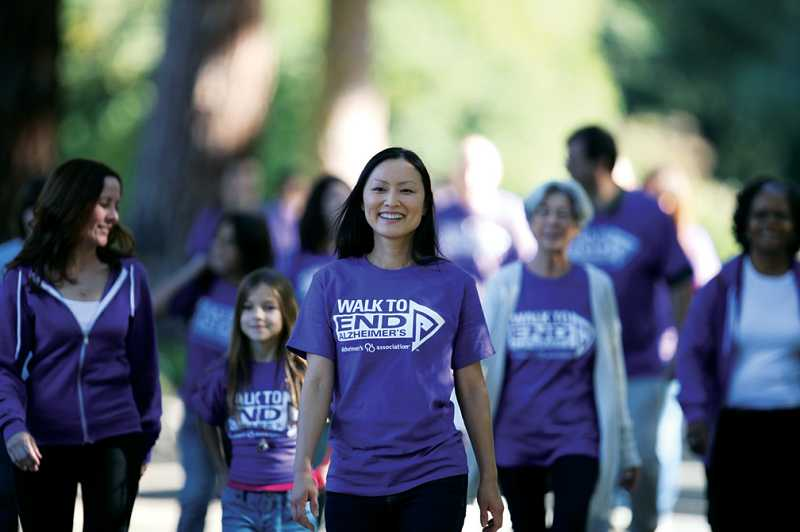 by: SUBMITTED PHOTO - Seniors took part in the Walk to End Alzheimers on Sept. 23.