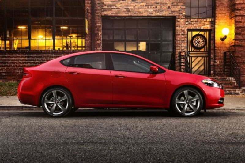 by: CHRYSLER LLC - The 2013 Dodge Dart looks more like a muscle car than an economy sedan.