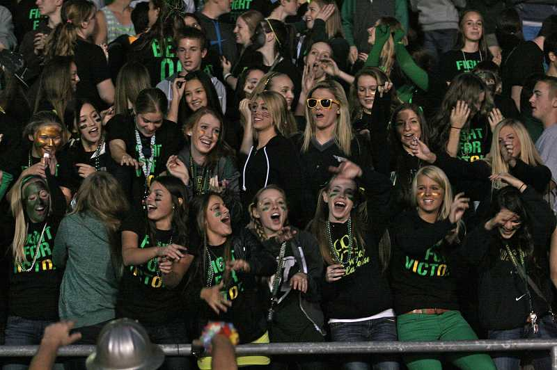 Students got railed up for the West Linn High School homecoming football game against Oregon City.