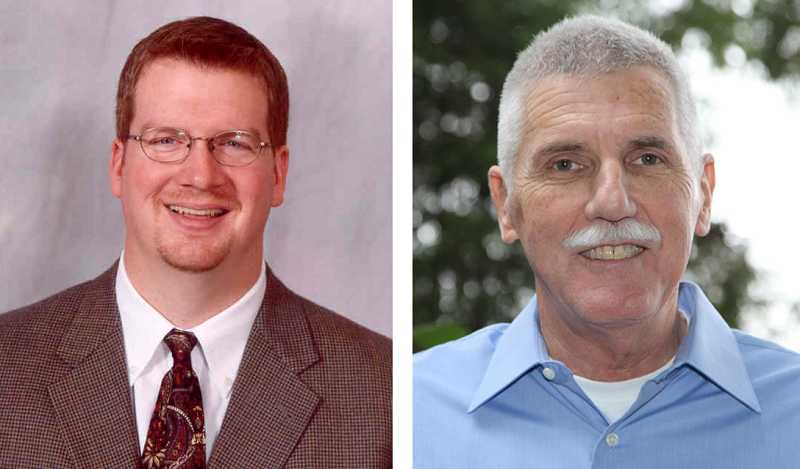 by: SUBMITTED PHOTOS - Mayor Keith Mays and former Sherwood Police Chief Bill Middleton are the among the candidates invited to the Oct. 25 voter forum for area candidates and ballot measures.