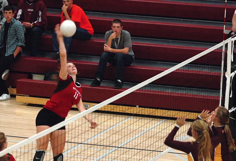 by: KRISTOPHER ANDERSON - Sandy sophomore Alex Forded the team with 13 kills in a straight-sets victory over Milwaukie last Thursday.