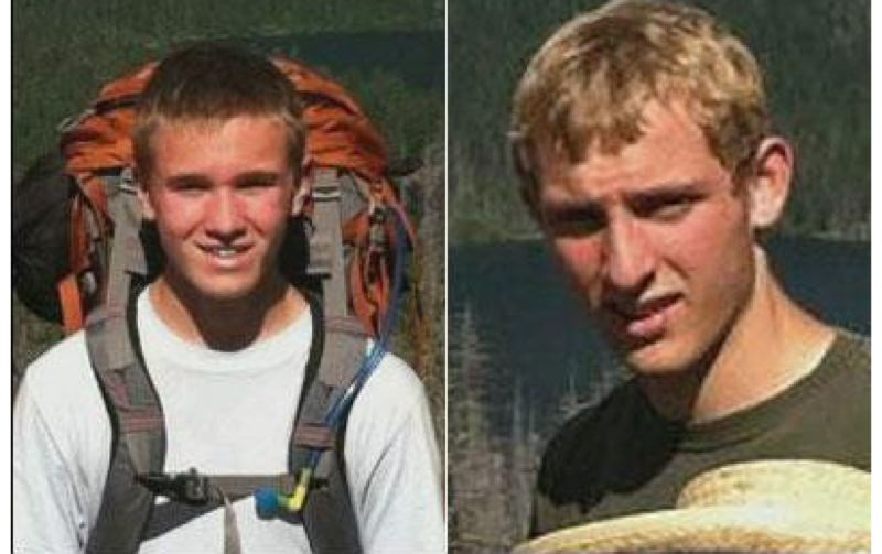 by: COURTESY OF CCSO - Bradley Nelson, left, and Jackson Chandler from West Linn have been missing since Saturday afternoon, when they failed to return from a hike in the Table Rock area east of Molalla.
