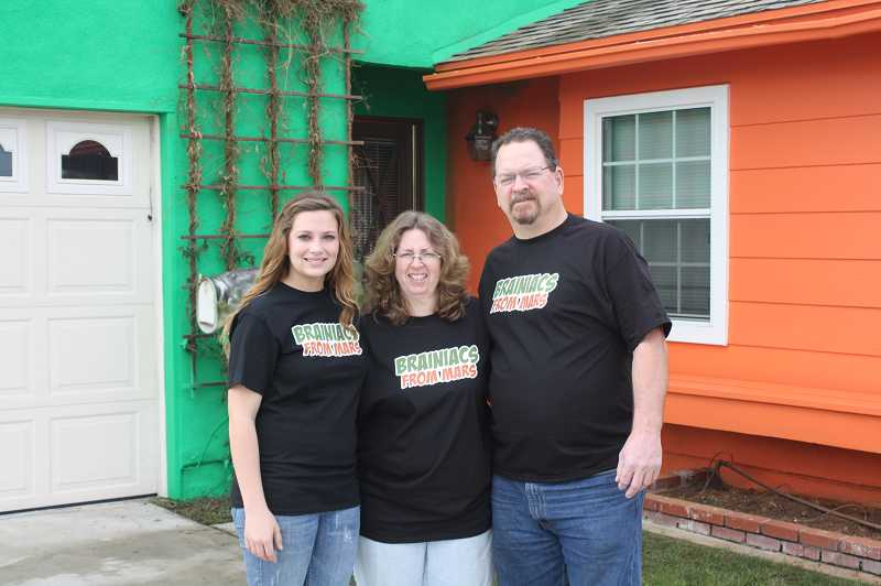 by: SUBMITTED PHOTO - The Hostettlers family in Buena Park, Calif., took advantage of the Brainiacs From Mars offer to paint their home in return for mortgage payments.