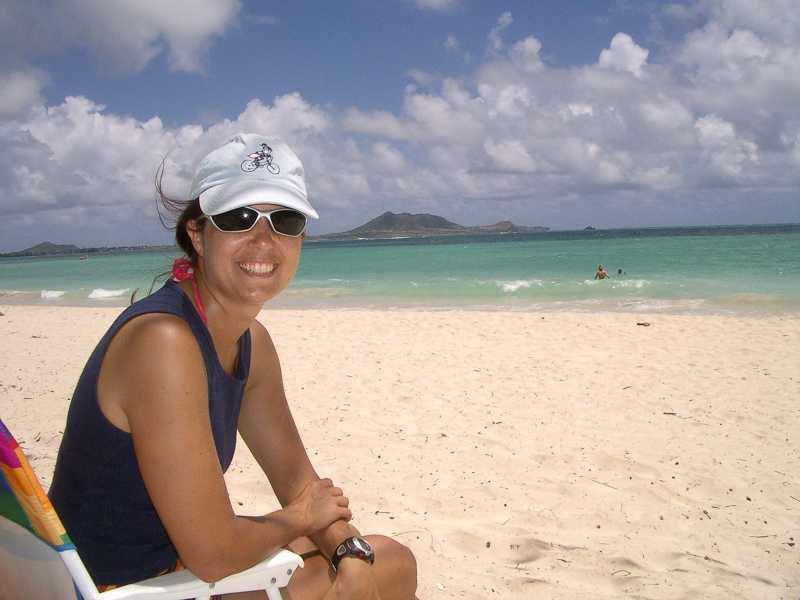 by: PHOTO COURTESY OF RENEE ALBERTSON - Renee Albertson relaxes on a beach in Oahu.