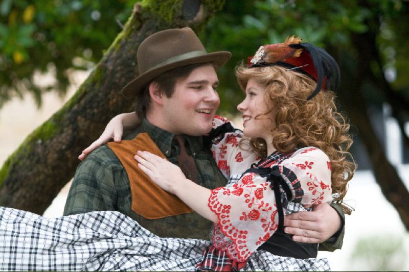 by: CONTRIBUTED PHOTO COURTESY OF AT HOME PLATE PHOTOGRAPHY - Tommy Albright, played by Austin Joseph, falls in love with Fiona McClaren, played by Cajsa Strommer, in Gresham High School's upcoming production of 'Brigadoon.'