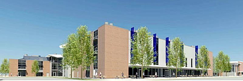 by: RENDERING COURTESY OF SRG PARTNERSHIP - A new Portland Community College student commons building will be constructed beginning this week on the Southeast Center Campus. The building is part of the college's 2008 bond improvements.