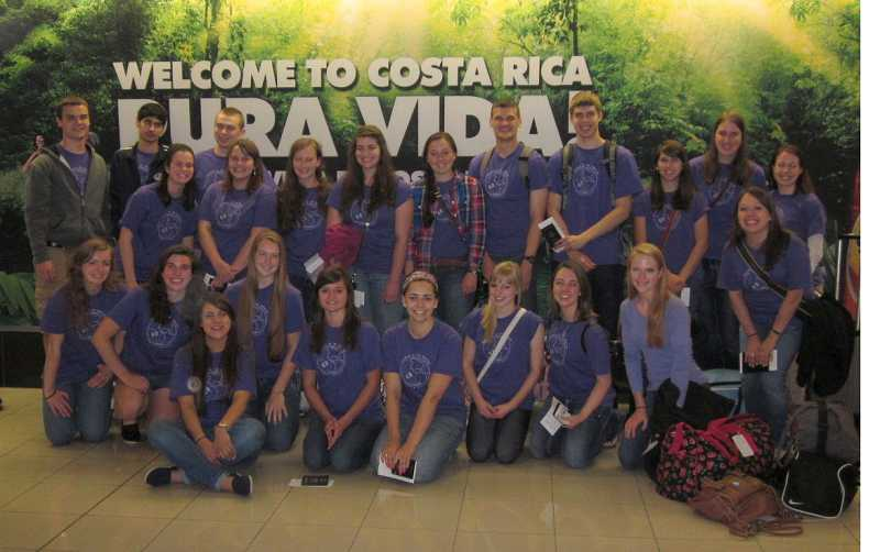 by: SUBMITTED PHOTO - West Linn High School student Alex Bailey (back row, third from left) visited Costa Rica this summer with an exchange program.