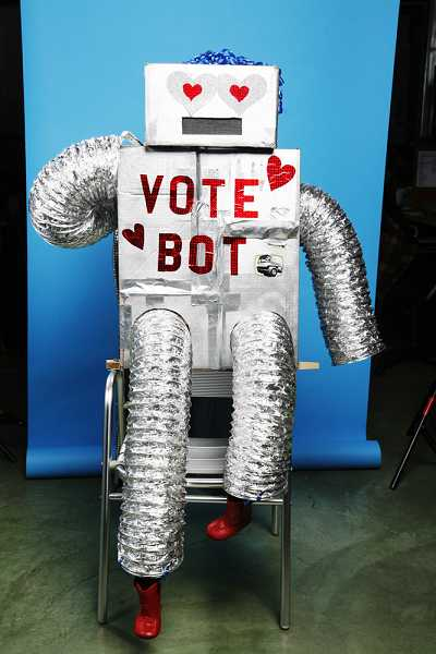 by: SUBMITTED PHOTO - The Bus Project Foundation has :Vote Bots' like the one pictured here across the United States.