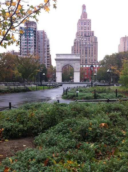 by: CLAIRE OLIVER - A closed-off Washington Square Park, the emptiest most people have seen it.