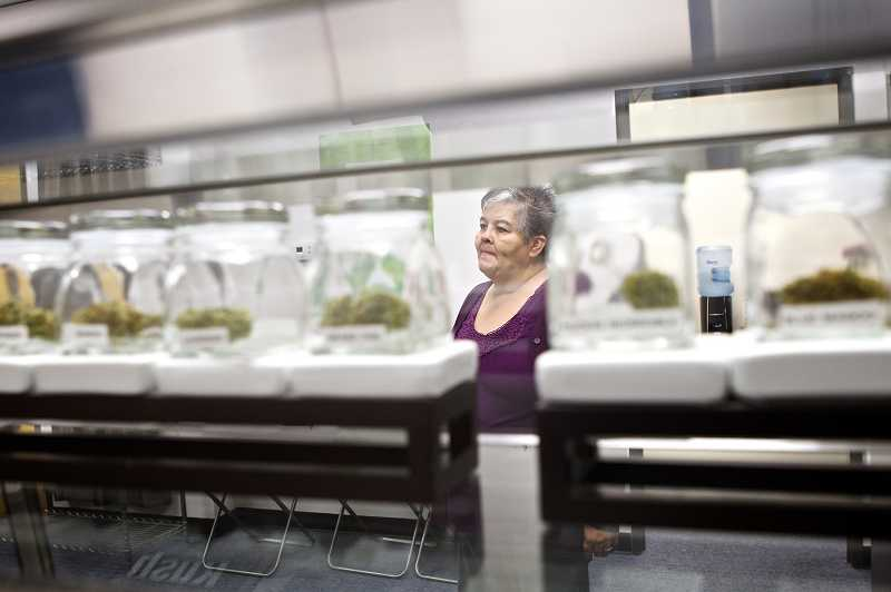 by: JAIME VALDEZ - The Human Collective offers an assortment of medical marijuana for patients who need to take the edge off chronic pain, said store owner Leslie Miller.