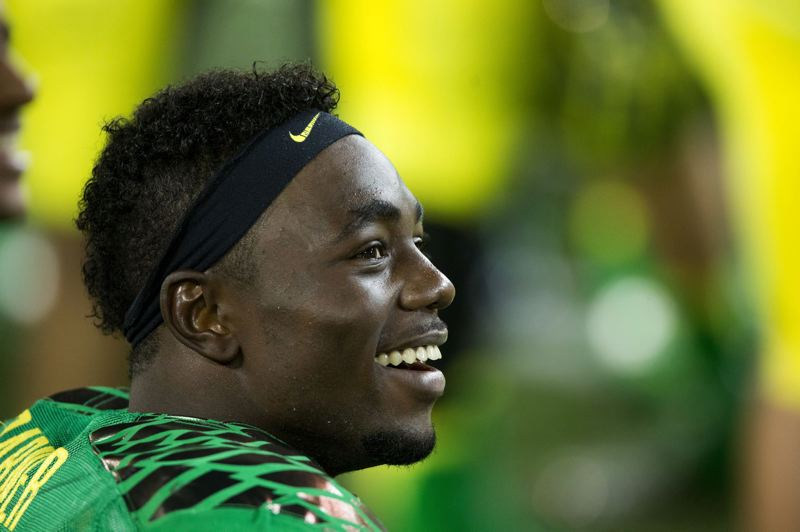 by: TRIBUNE PHOTO: CHRISTOPHER ONSTOTT - Running back Kenjon Barner and the Oregon Ducks' top players have been able to smile and take it easy down the stretch in every game this season, but they could get a four-quarter challenge at USC on Saturday.