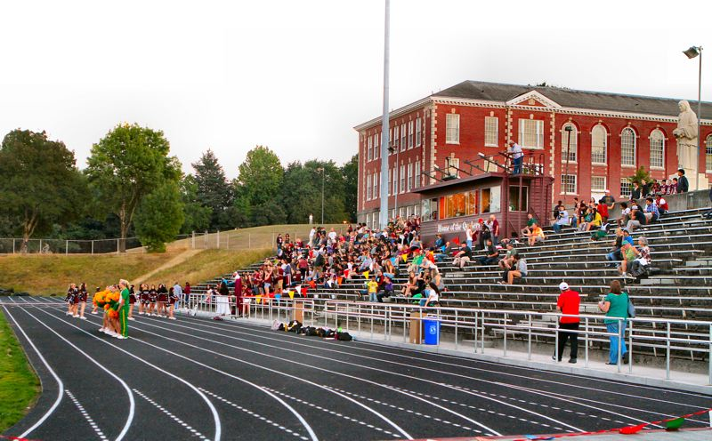 by: DAVID F. ASHTON - The stands at Franklin High School start to fill for their annual Homecoming game, and the dedication of their new track.