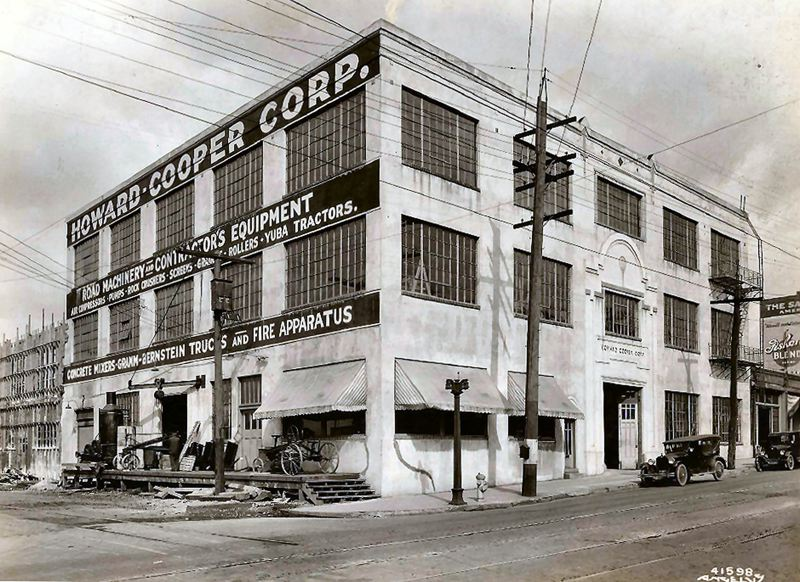 by: OURTESY OF CHET SCHINK - Shown is the Howard-Cooper Corporation building: Howard-Cooper was ranked in 1924 as the top distributor of road machinery. It was founded by Dick Cooper, George W. Howard, and John Landenberger, in 1913. The building was located at the corner of Third and S.E. Hawthorne Boulevard.