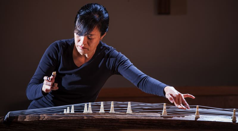 by: TRIBUNE PHOTO: CHRISTOPHER ONSTOTT - Mitsuki Dazai, a Tokyo native who lives in Creswell, first heard Japanese koto music in college. She and friends will perform koto music in Portland on Sunday, Nov. 4.