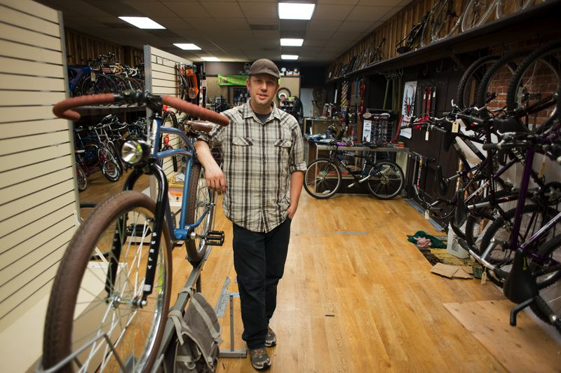 by: TRIBUNE PHOTO: CHASE ALLGOOD - A thief tried to sell a stolen bike to Ben Christ, owner of the Hillsboro Bike Co. It belonged to one of his employees.