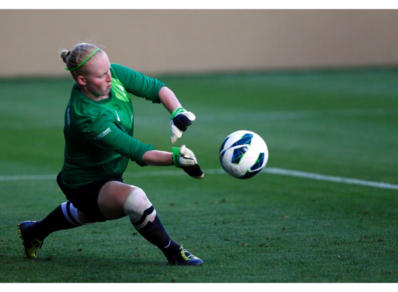 by: COURTESY OF UNIVERSITY OF PORTLAND - Erin Dees has been the primary goalkeeper this season for the Portland Pilots.