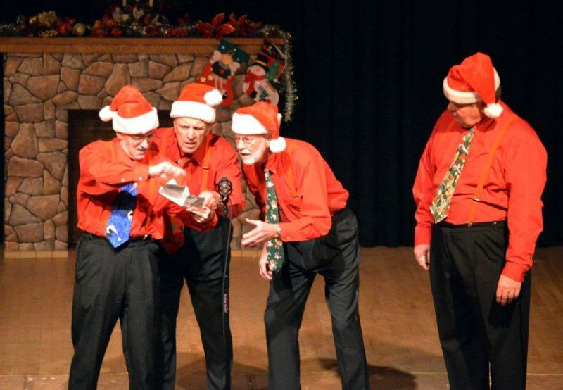 by: CONTRIBUTED PHOTO - Joel Hess, Lee Wallace and Bill Morris play Santa in Northwest Senior Theatres holiday show, Celebrate!