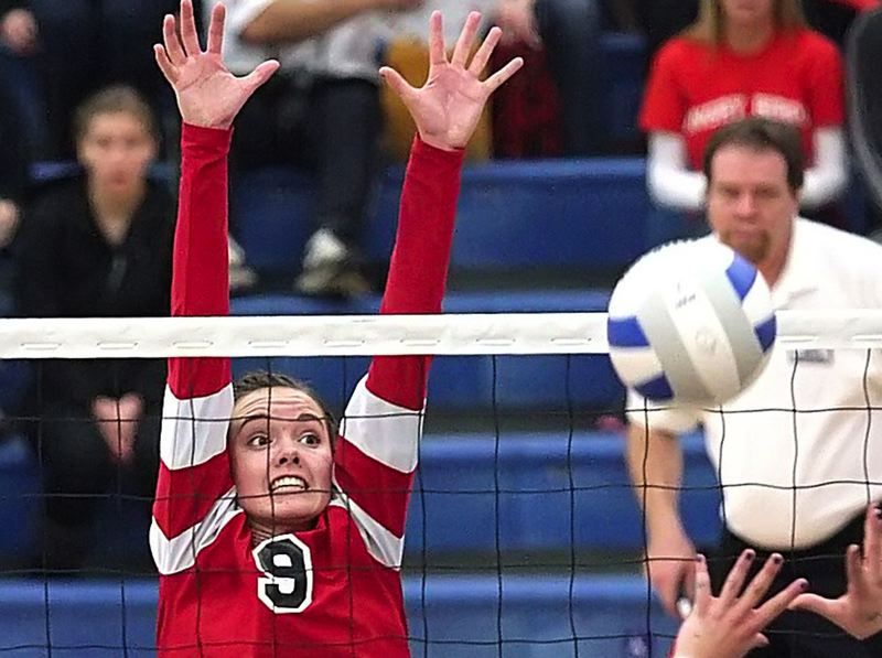 by: PAMPLIN MEDIA GROUP: MILES VANCE - Corbetts Karina Lees was named to the first-team, all-state squad. She had 13 kills in Saturdays title match.