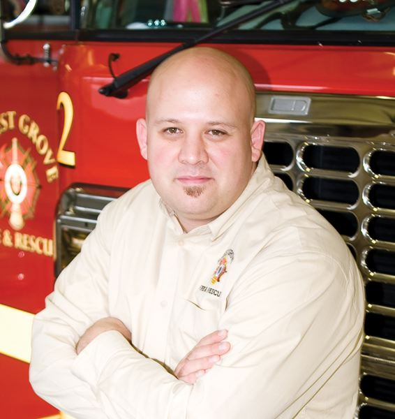 by: NEWS-TIMES FILE PHOTO - Dave Nemeyer, division chief at Forest Grove Fire & Rescue, won a Golden Sparky, award last week for his community involvement and promotion of education around fire prevention.