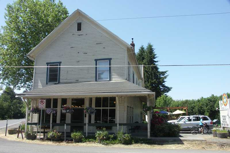 by: COURTESY OF DAVE GILMORE - The iconic South Store Cafe sits on the corner of Highway 219 and Scholls Ferry Road. The cozy little eatery was once owned by Amanda Stanaway of Sherwood.