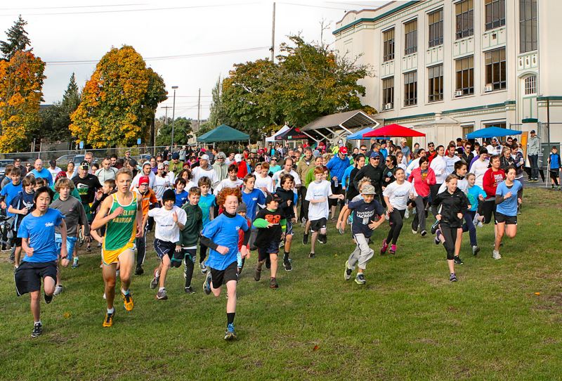 by: DAVID F. ASHTON - The annual Sellwood Middle School's ' Run and Walk for Education' was again afoot on October 21.