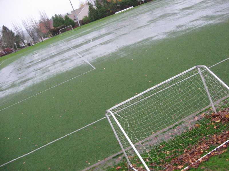 by: RAY PITZ - Synder Park's soccer field was a wet mess Monday as rains pounded the area.
