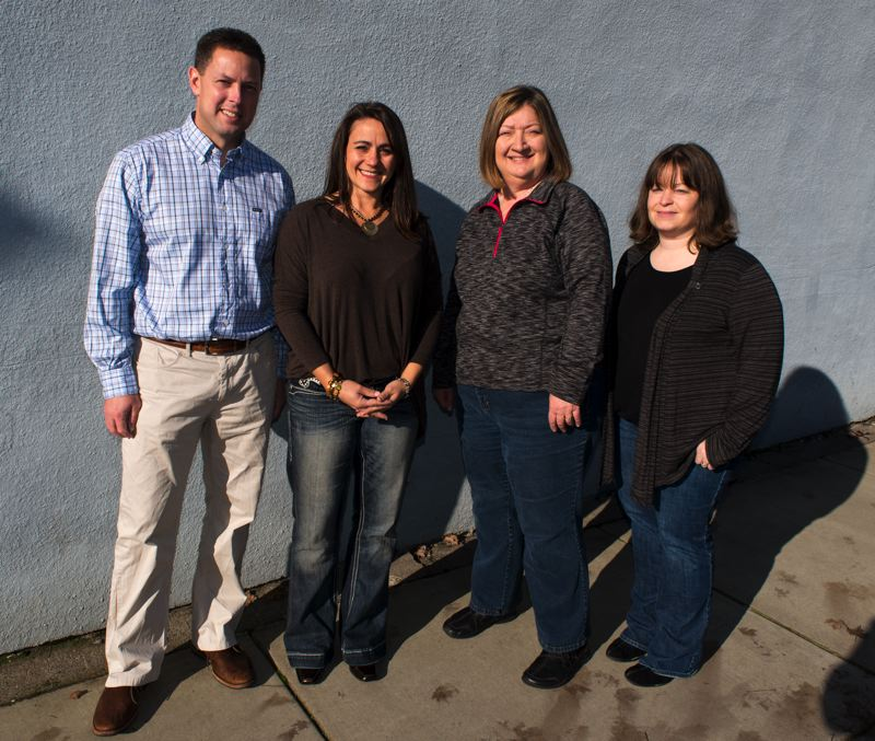 by: NEWS-TIMES PHOTO: CHASE ALLGOOD - Quinn Johnson, Tanya Peterson, Cindy Benson-Taylor and Michelle Warren are members of the Education Foundation of Forest Grove, which is looking for a development coordinator. The group hopes to hire someone in the next few months.