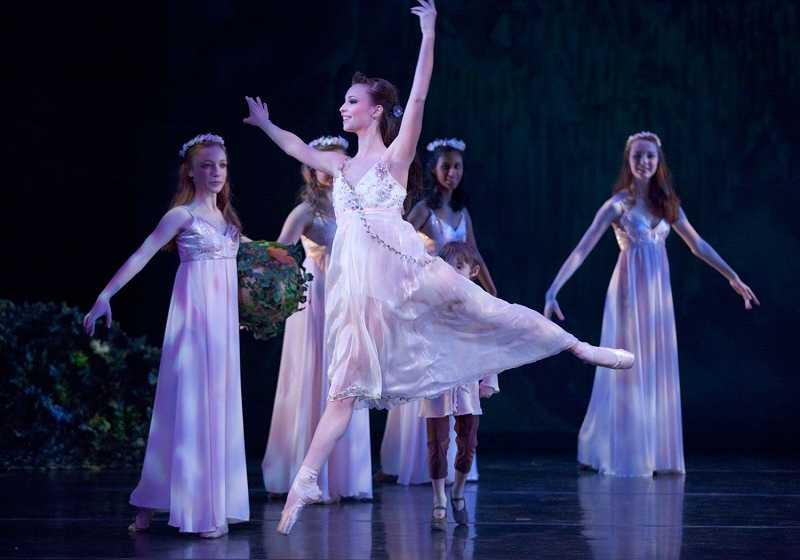 by: SUBMITTED PHOTO: BLAINE TRUITT COVERT - Lake Oswego dancer Julia Bullard, on left, is a Youth Company Apprentice with The Portland Ballet. She will appear as a Dragonfly in the upcoming production of John Clifford's 'A Midsummer Night's Dream,'opening Friday and running through the weekend.