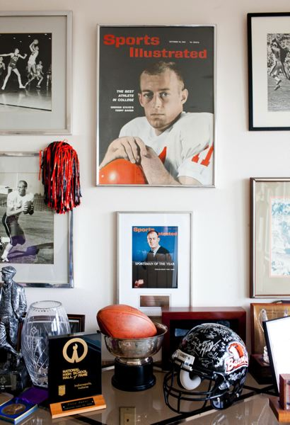 by: PORTLAND TRIBUNE: CHRISTOPHER ONSTOTT - At his home in Southwest Portland, Terry Baker keeps some mementos of his outstanding career at Oregon State.
