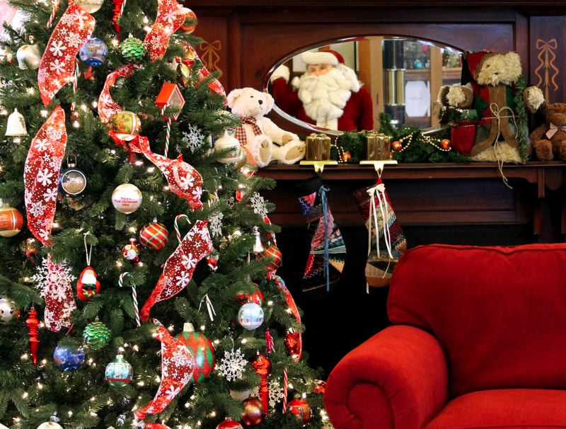 by: OUTLOOK PHOTO: ANNE ENDICOTT - The Gresham History Museum is decked out for Christmas, complete with a comfy seat for Santa to visit with youngsters. OUTLOOK PHOTO: ANNE ENDICOTT