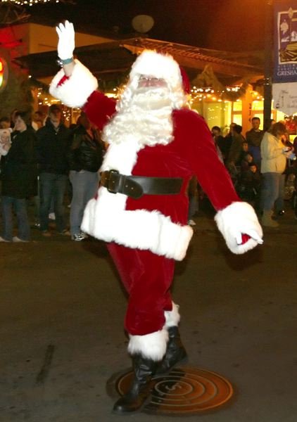 by: FILE PHOTO - Santa Claus will make a special appearance in Gresham, Fairview and Troutdale to usher in the holidays.