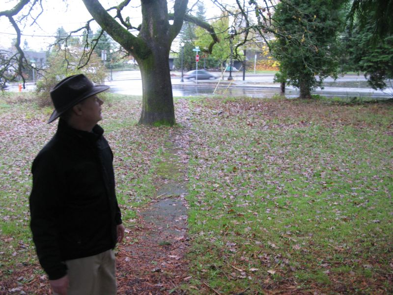 by: RAYMOND RENDLEMAN - Clackamas County Soil and Water Conservation District Manager Tom Salzer tours the district's new property at 314 Pleasant Ave., Oregon City.