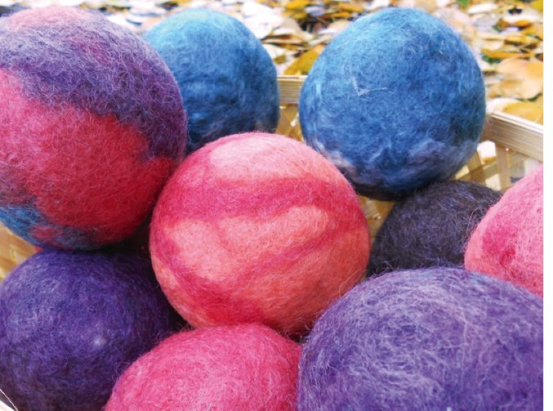by: SUBMITTED PHOTO - Ruth Beck's felted dryer balls are a reusable natural alternative to dryer sheets.