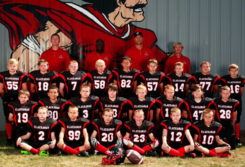 by: SUBMITTED - Clackamas fifth and sixth graders proved themselves one of the best youth football teams around in 2012. They went 8-2 on the season, avenging their only losses with wins in postseason play and capturing the Harrison Three Rivers League Division championship.