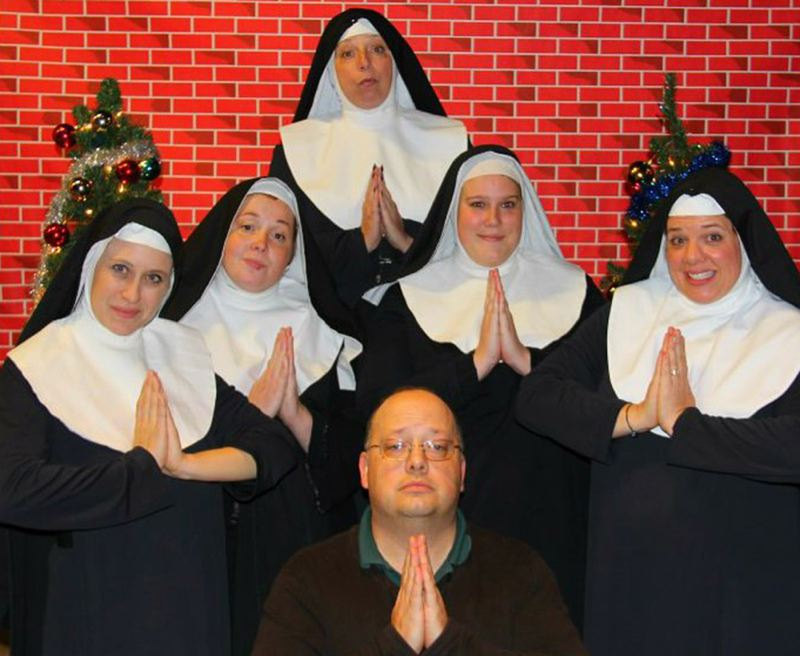 by: COURTESY PHOTO - Director Butch Vandehey joins several Sisters in 'Nuncrackers' opening this weekend at Hillsboro Artists´ Repertory Theatre.