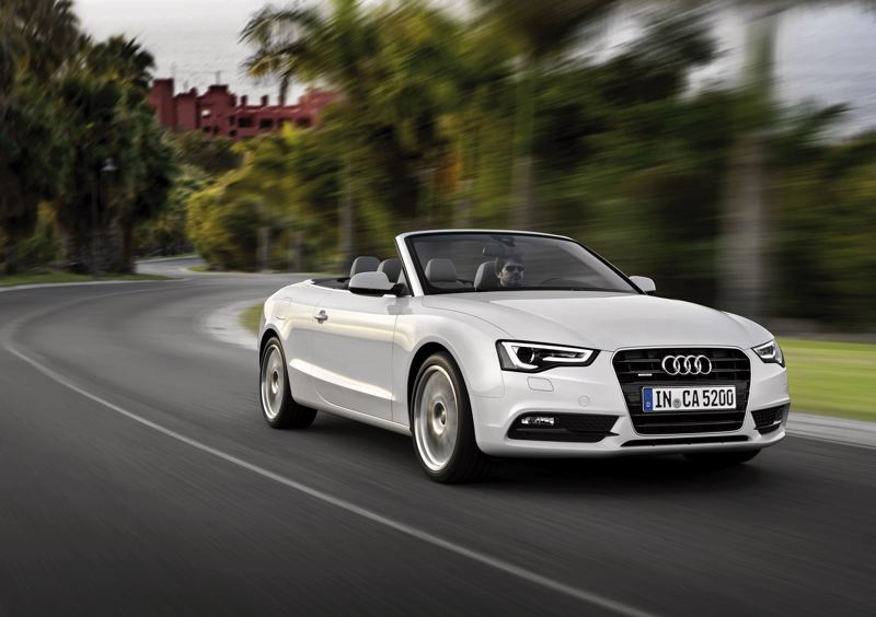 by: AUDI MOTOR CO. - The 2013 Audi A5 Cabriolet compete well against more expensive droptop cruisers.